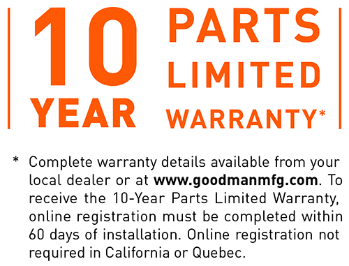10 Years Limited Warranty